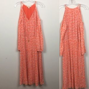 Michael Kors midi cold shoulder dress
